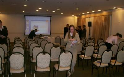 Preparação da sala